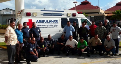 Twenty locals are training to be the first EMTs in all of Micronesia!  They will serve to develop the emergency response on the island of Pohnpei.