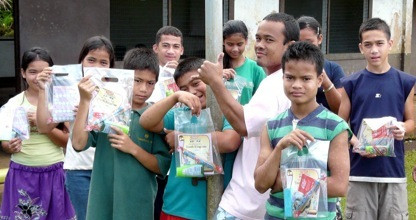 Thanks to Colgate, MAHI International distributed dental hygiene packets consisting of toothpaste, toothbrushes, floss, and educational materials.