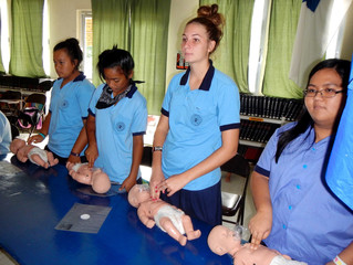 Training Students in Basic Life Support