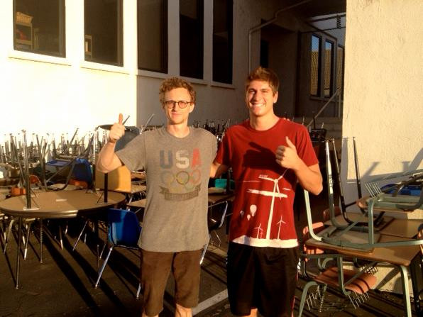 Thanks to Dustin Herrmann and Ryan Elssman for their help shipping the school desks to Micronesia!
