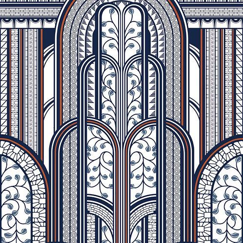 CASADECO - 1930 - PANORAMIQUE - PARAVENT BLUE/CUIVRE MNCT85876543