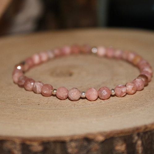 Bracelet Rhodochrosite 4 mm