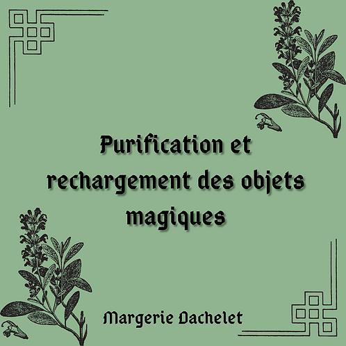 """Grimoire """"purification et rechargement des objets magiques"""""""