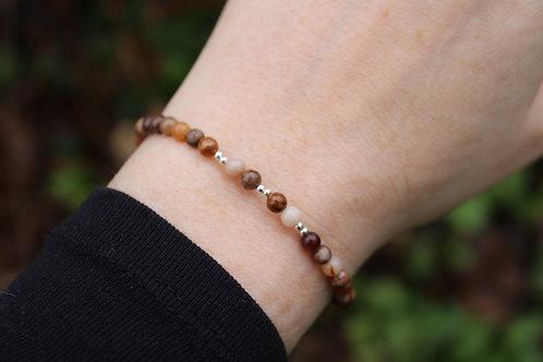 Bracelet Bois fossile 4mm