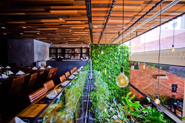 Restaurant Le Manjue Jardins at São Paulo Brazil    Architect Flavia Machado