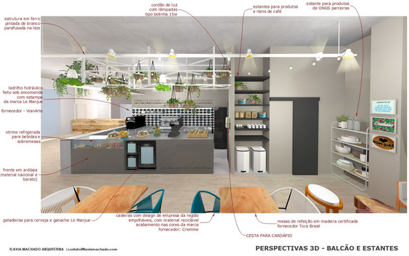 3d- Café Civi-co | Arq. Flavia Machado