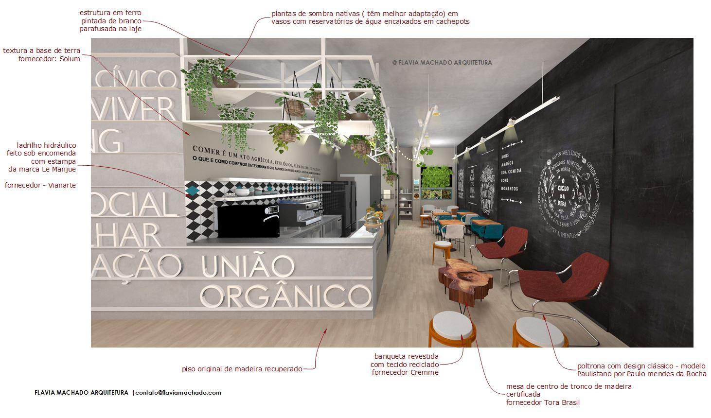 3D - Café Civi-co | Arq. Flavia Machado