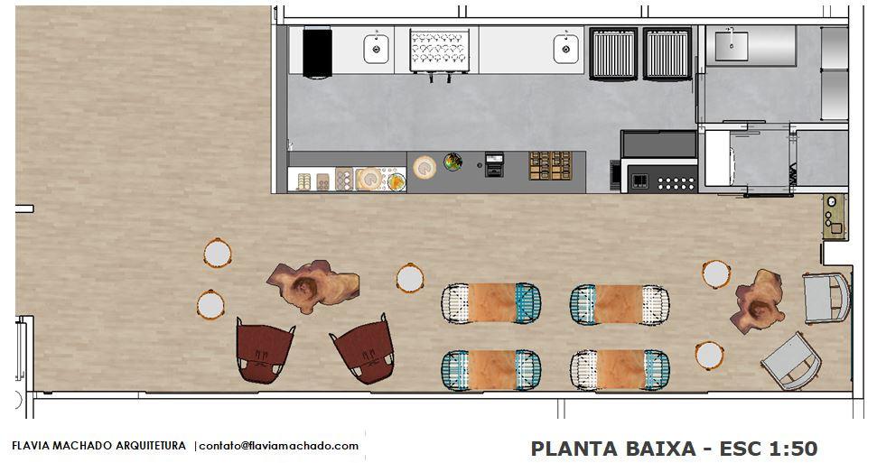 planta - Café Civi-co | Arq. Flavia Machado