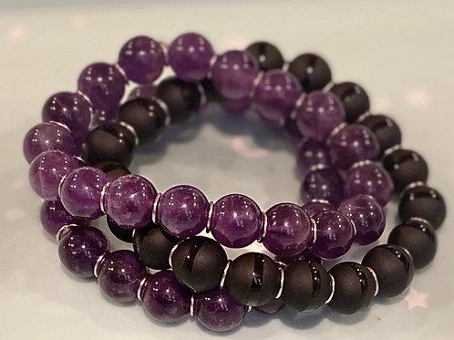 Healing Crystal Stackable Elastic Bracelets