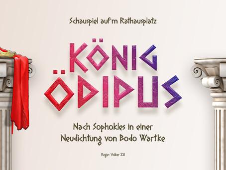"""Schauspiel auf'm Platz """"König Ödipus""""Pop-Up Theater auf dem Rathausplatz im Juli und August"""