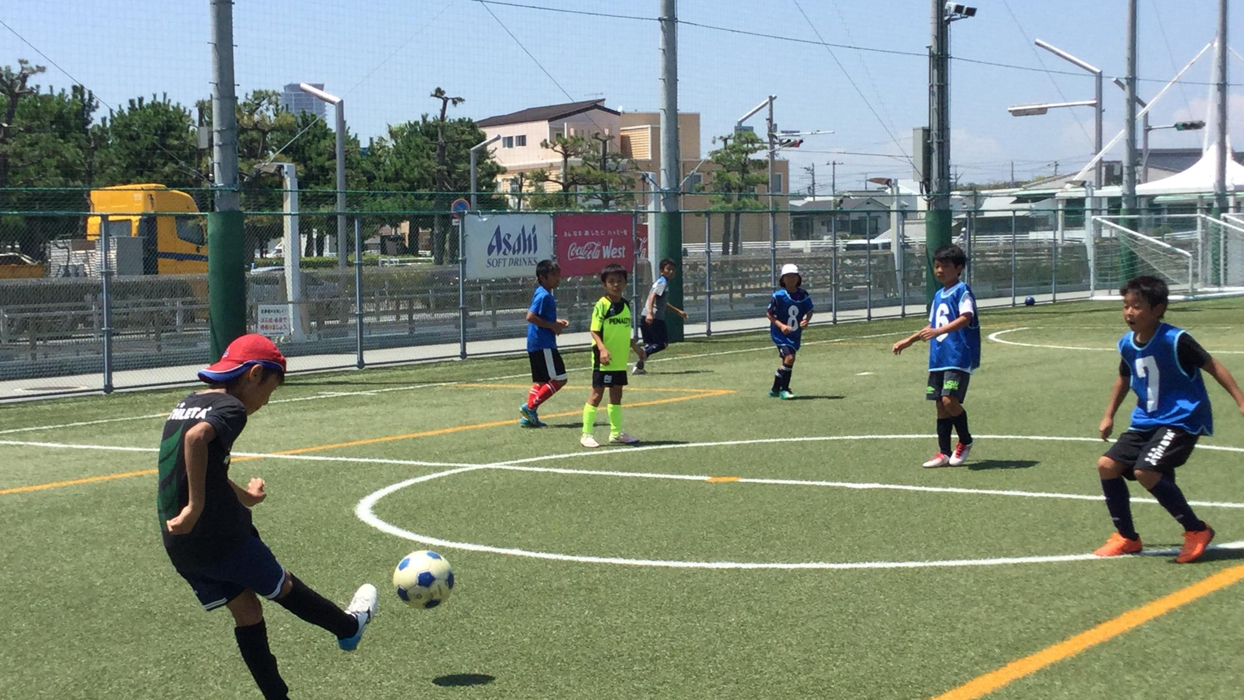 エフォートサッカースクール 明石 播磨 稲美 大蔵海岸 夏休み