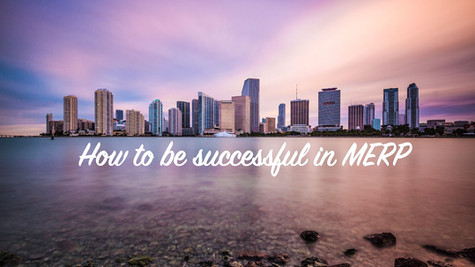 How to be successful in MERP