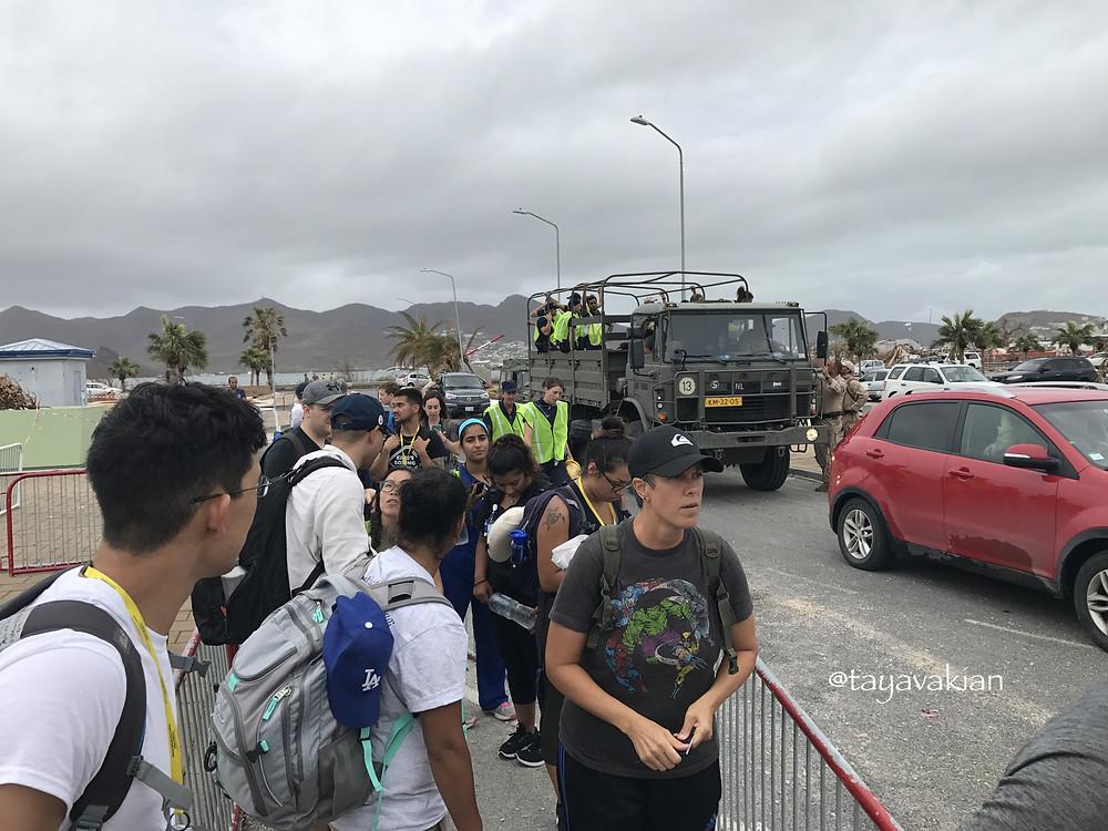 Evacuation Sint Maarten