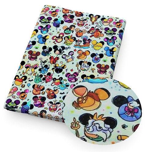 Mouse Head Characters Fabric