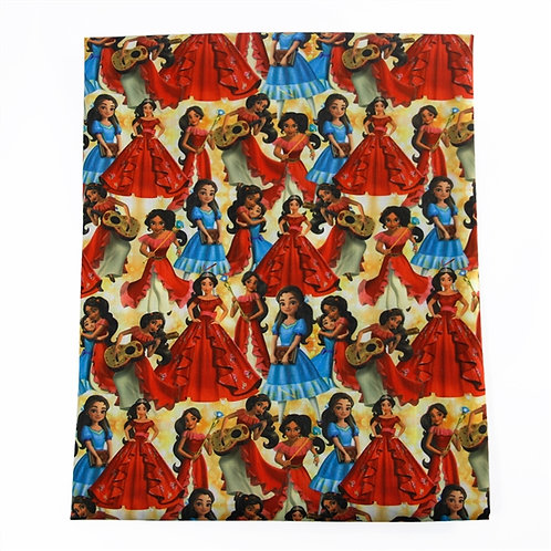 Girl in the Red Dress Fabric