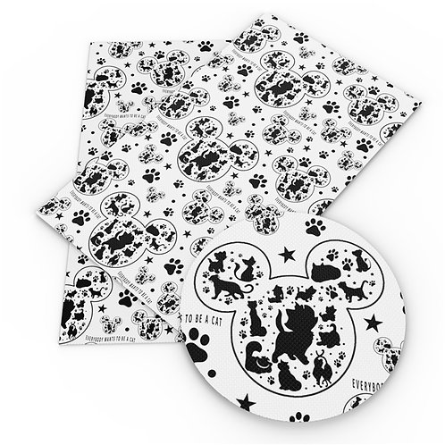 Mouse Silhouette Fabric