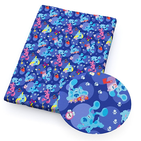 Dogs - Blue Pup Fabric