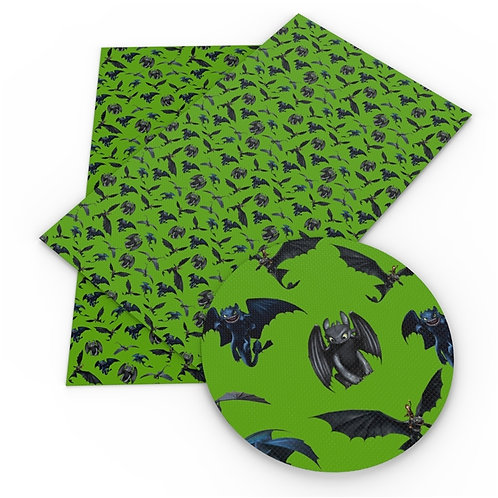 Dragon Tricks Green Fabric