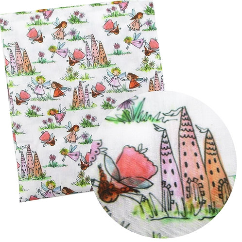 Fairies and Castles Fabric