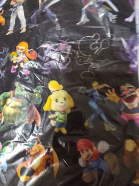 Retro Super Game Characters #2 Fabric
