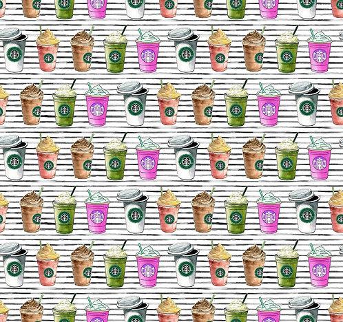 Coffee Addiction Fabric
