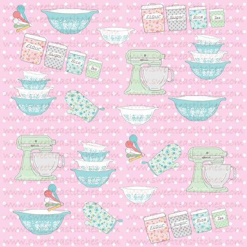 Vintage Baking Pink Fabric