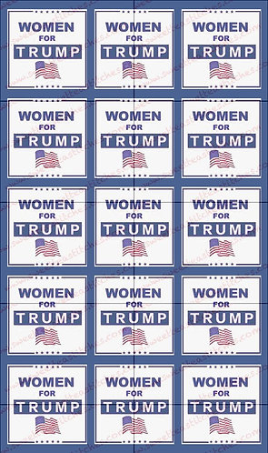 Women for Trump, blue