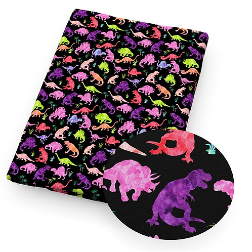 Colorful Dinosaurs Embroidery Vinyl