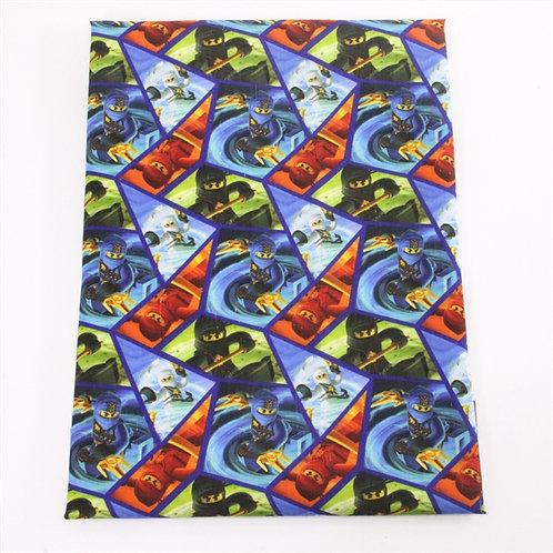 Ninja-Go Movie Fabric