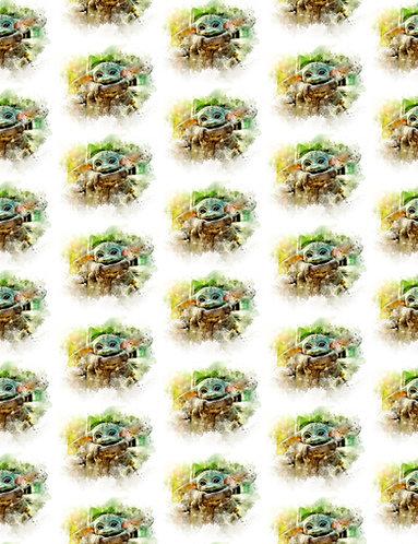 Green Guy Circles Fabric