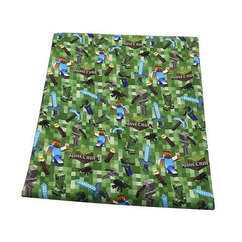 Mining Game Green Fabric