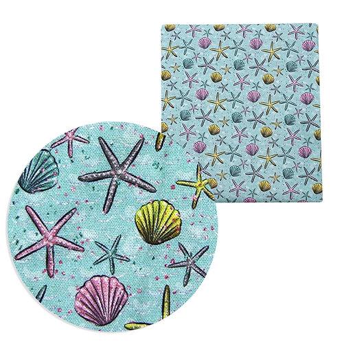Summer Seashells Fabric