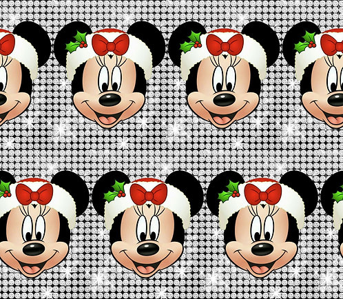 Christmas - Mouse Sparkles Fabric