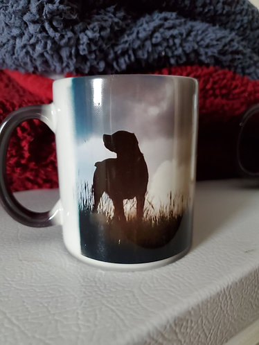 Color Changing Ceramic Mug 11oz black - personalize
