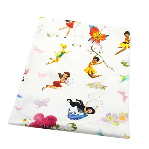 Tink and Friends White Fabric