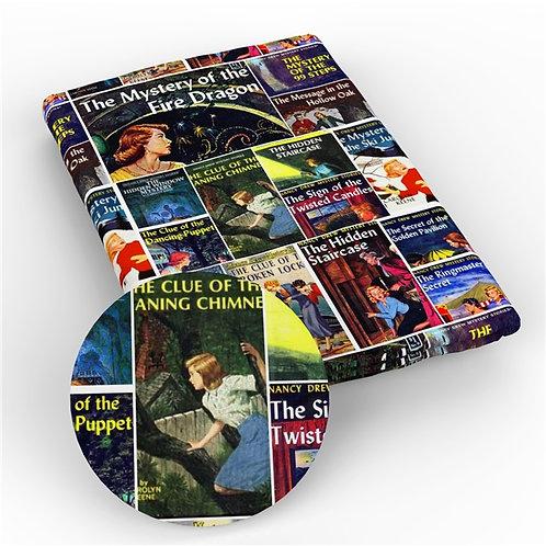 Mystery Girl Books Fabric
