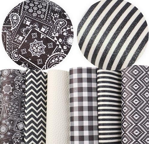 Black And White Prints Sheet Set