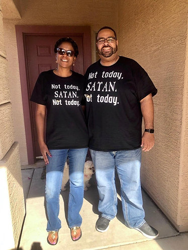"Unisex ""Not today Satan"" Tee"