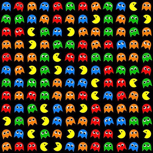 Pac-man Icons Fabric