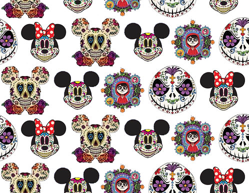 Mouse Sugar Skull Fabric
