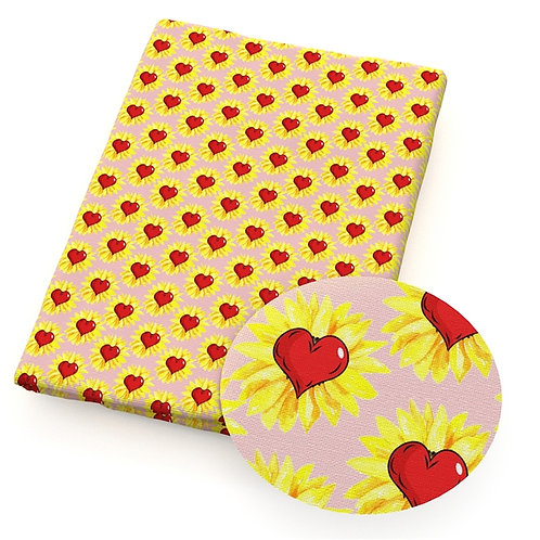 I Heart Sunflowers Fabric