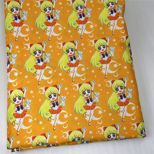 Sailor Moon Yellow Fabric