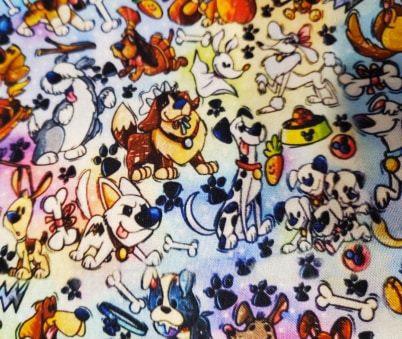 Dogs - Dogpound Mashup Fabric