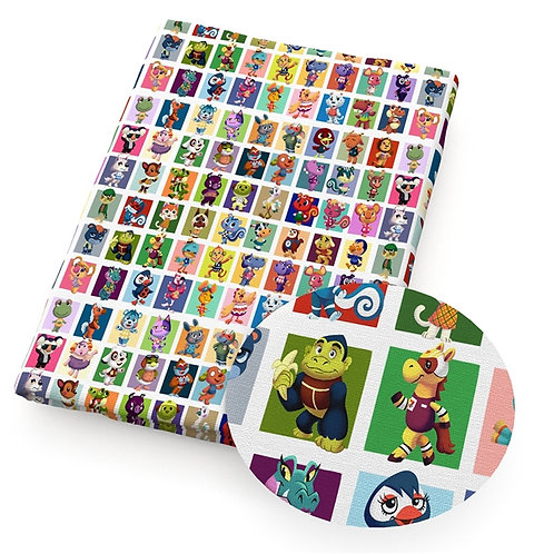 Critter Crossing Blocks Fabric