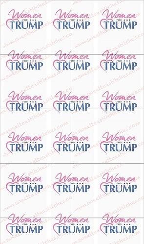Women for Trump, white
