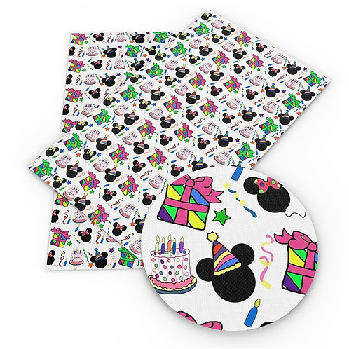 Mouse Birthday Party Fabric