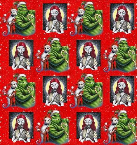 Christmas - J&S Green Ghost Fabric