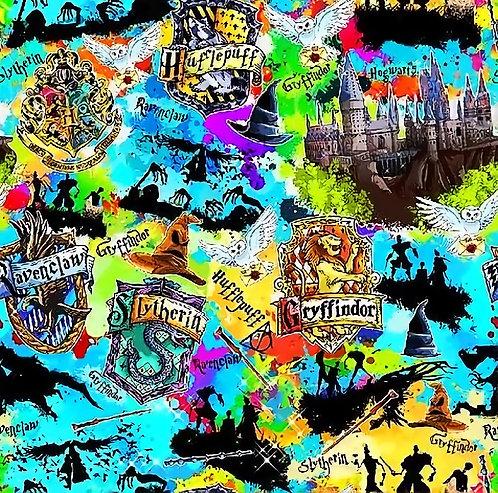 Wizard Color Burst Fabric