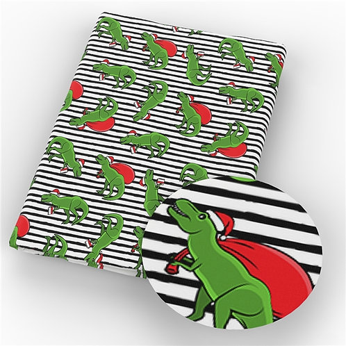 Christmas - Dinosaur Santa Fabric