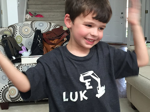 Personalized Excavator Toddler Tee